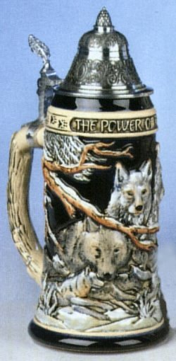 Power of the Pack Wolf LE German Beer Stein .75L